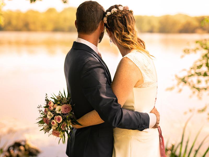 Photo couple marié extérieur loiret 45