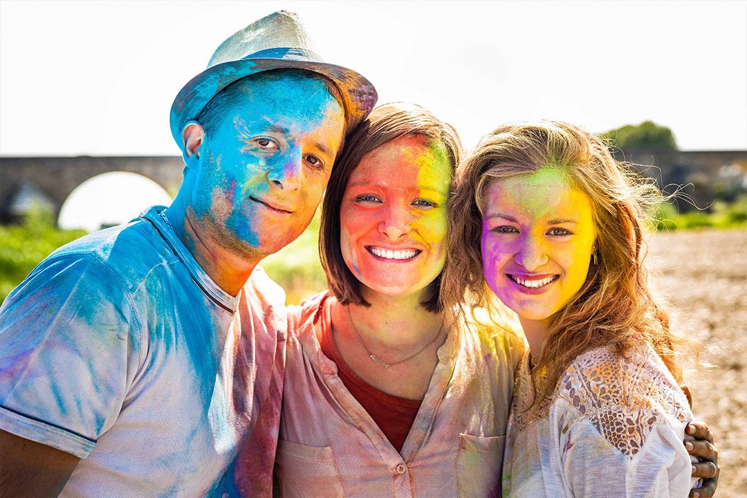 séance photo amis color me extérieur Loiret 45