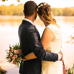 Photo de couple marié extérieur loiret 45