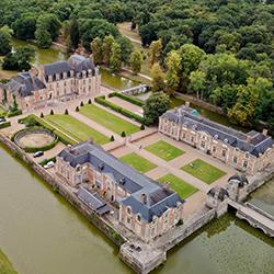 Photo drone château mariage loiret 45